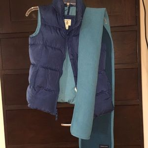 Vest and scarf